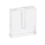 Two's Company Crystal Bud Vase Square