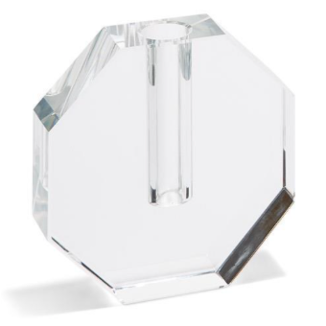 Two's Company Crystal Bud Vase Octagon