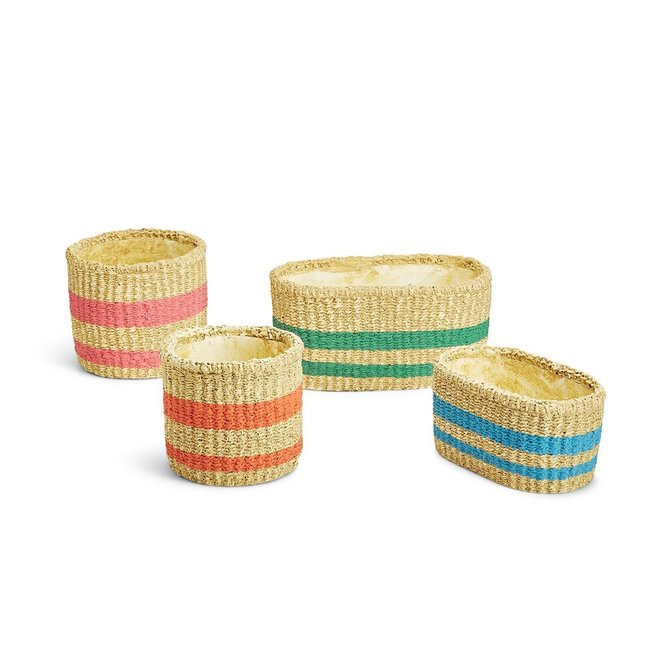Two's Company GARDEN BASKET PLANTER - LG OVAL