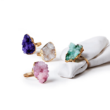 Two's Company Geode Napkin Rings assorted colors - HA103-ASST