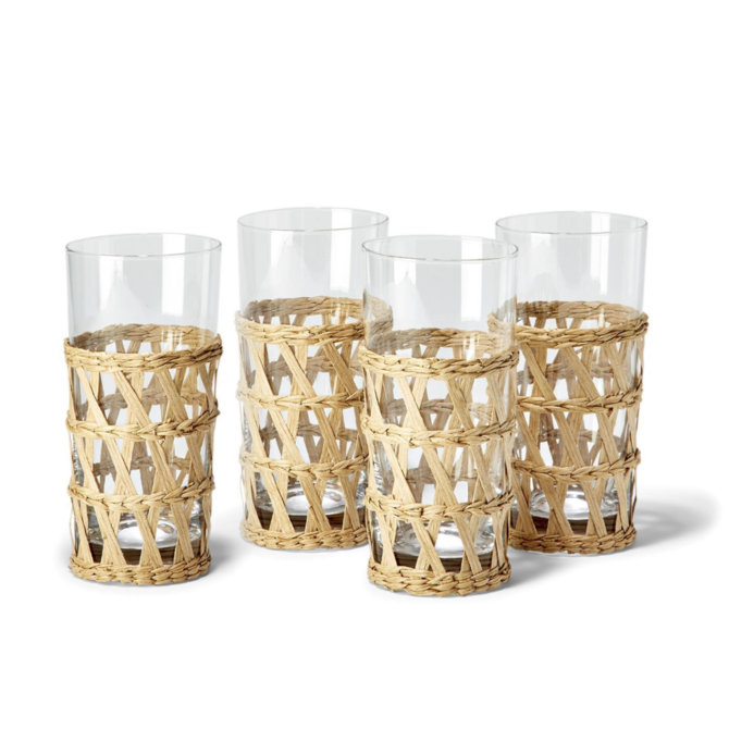 Two's Company LATTICE DRINKING GLASS - 13.5 OZ