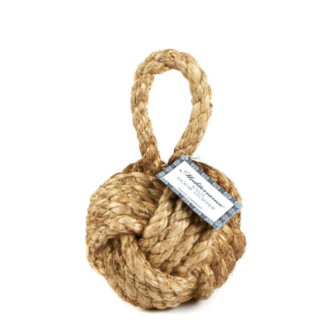 Two's Company Marseille Knot Door Stopper
