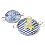 Two's Company PATTERNED SERVING TRAY - 19' RD
