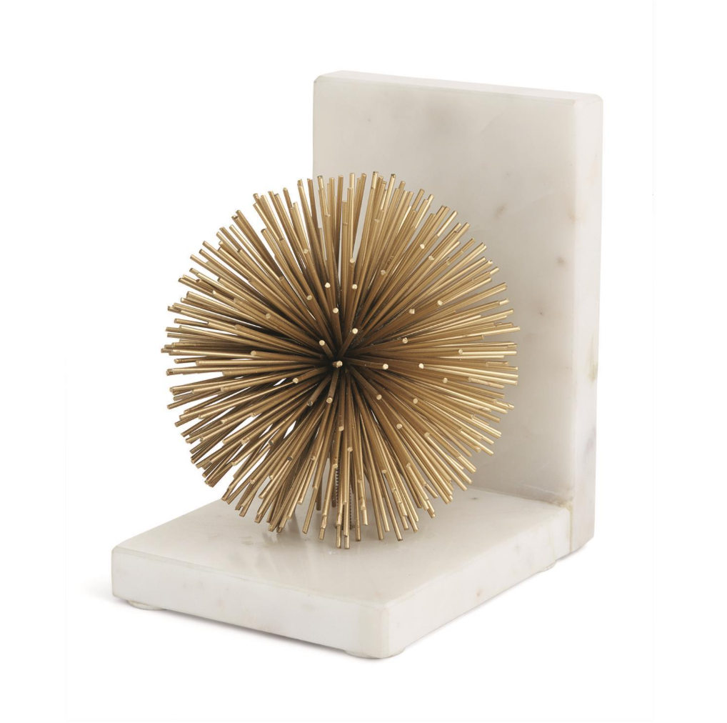 Two's Company S/2 Gold Starburst Bookends