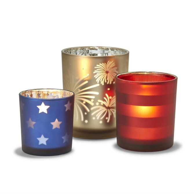 Two's Company CANDLEHOLDERS - STRIPES - MED