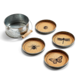 Two's Company GARDEN CORK COASTERS - SET OF 4