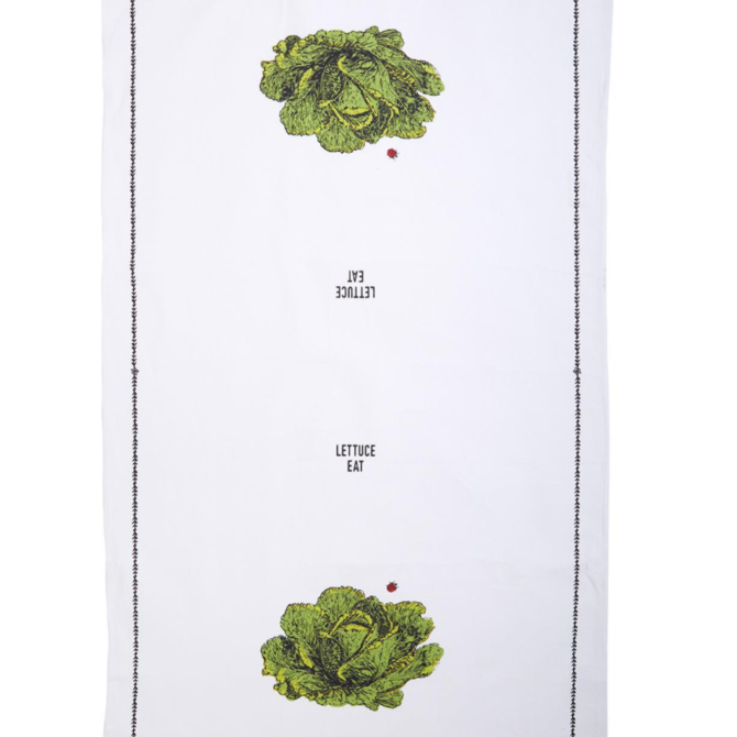 Two's Company Farm To Table Dishtowel - Lettuce