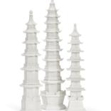 Two's Company WHITE PAGODAS - SMALL