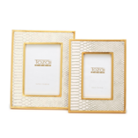 Two's Company White Python Frame Large