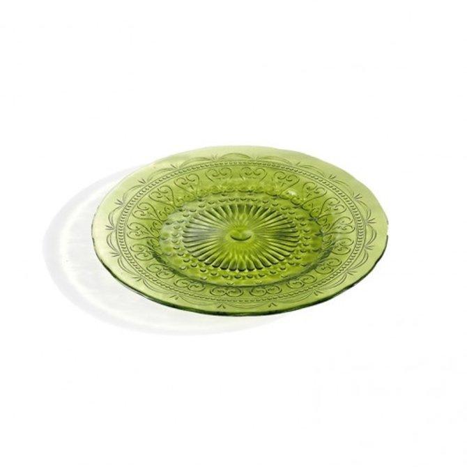 Zafferano provenzale Plate - apple green - small PV01113