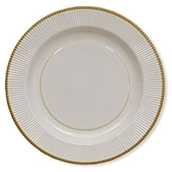 Sophistiplate Classic Gold Righe Salad/ Dessert Plates