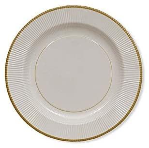 Sophistiplate Classic Gold Righe Salad/ Dessert Plates