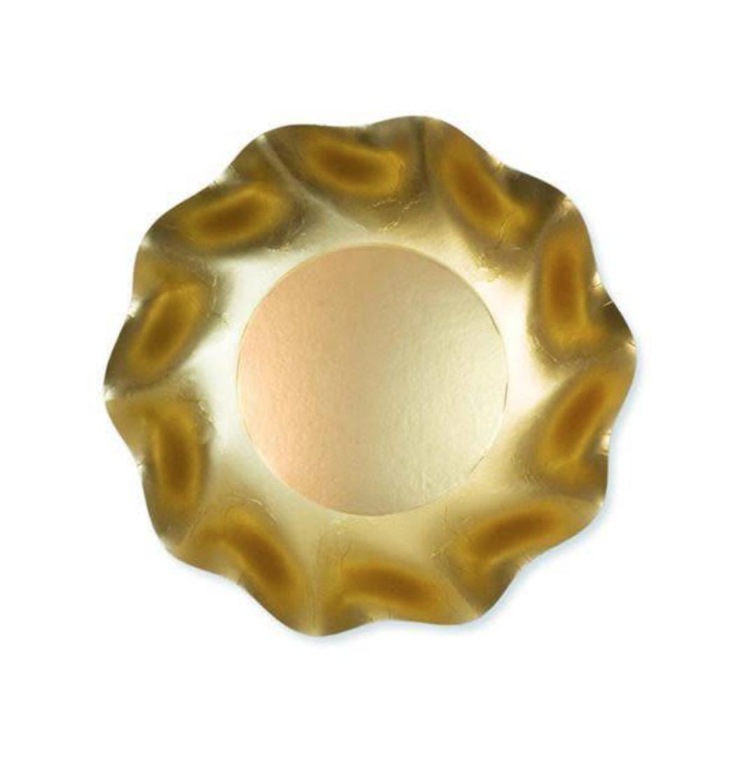 Sophistiplate Satin Gold Petalo Deep Bowls