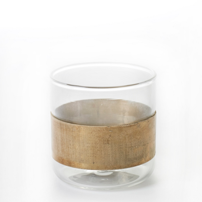 "BIDKHOME Glass Copper 7x7"""