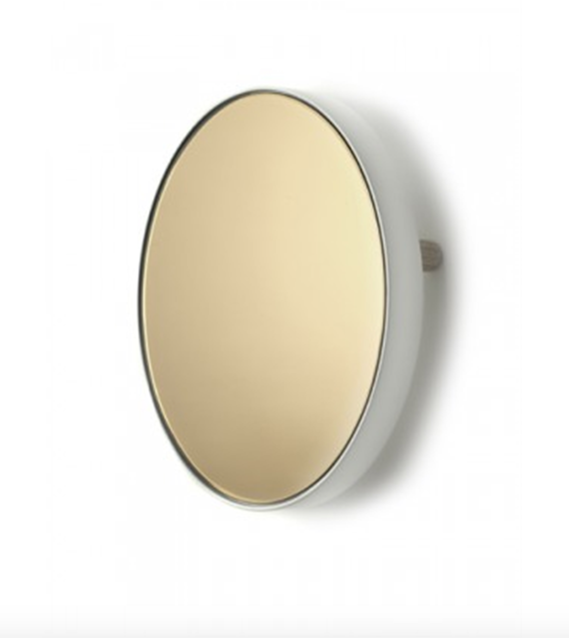 "BIDKHOME Mirror Tray Round Studio Simple 31x6"" White"