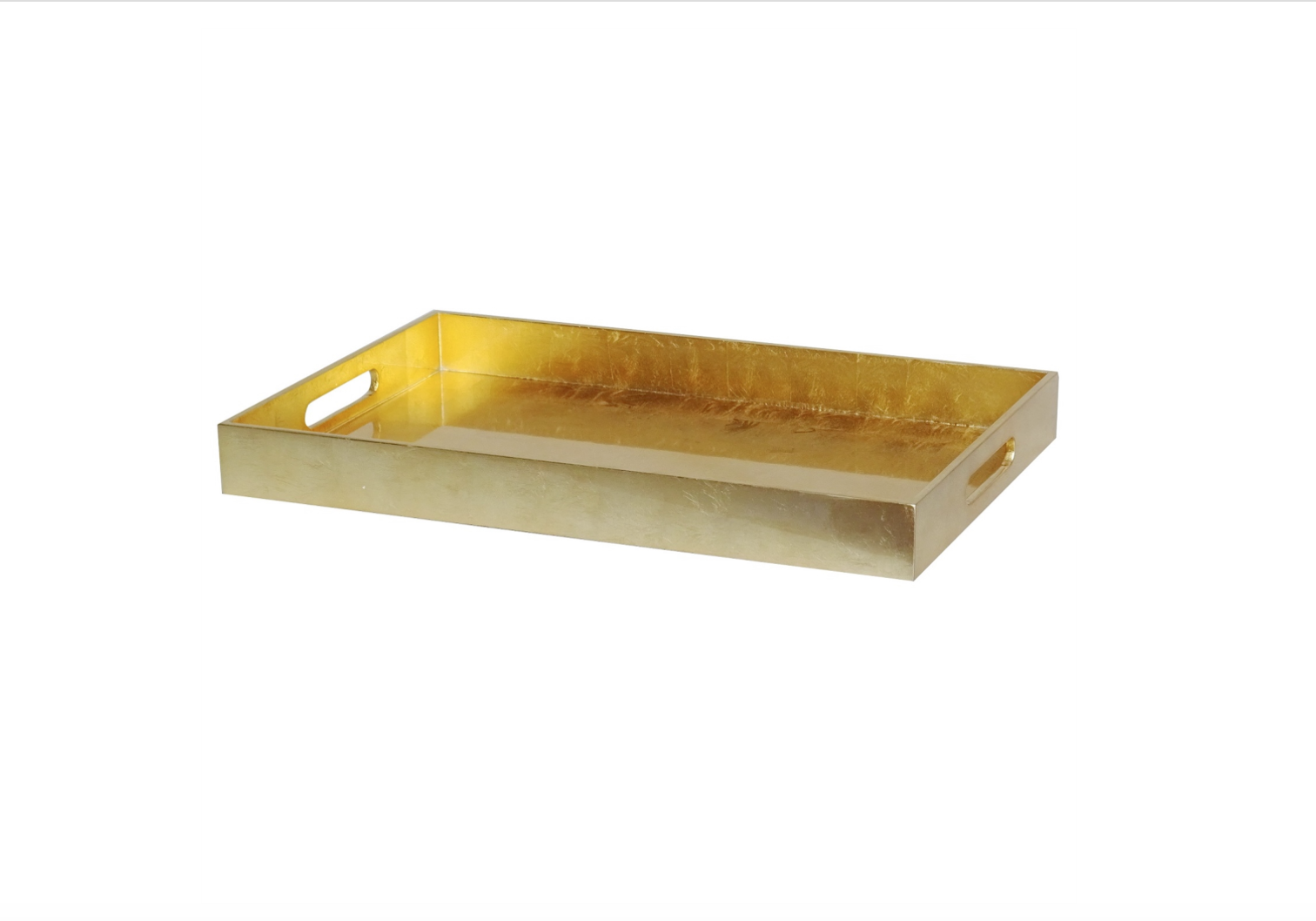BIDKHOME Small Lacquer Rectangular Serving Tray Gold Leaf