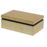 BIDKHOME Small Lacquer Gold Leaf Box