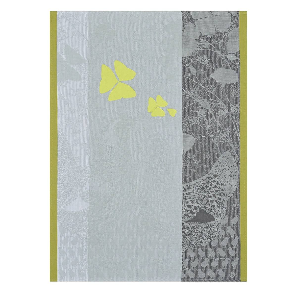 LJF Tea Towel Farm Family Yellow