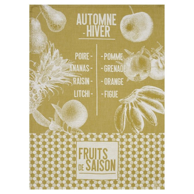 LJF De Saison Fruits Mustard Tea Towel