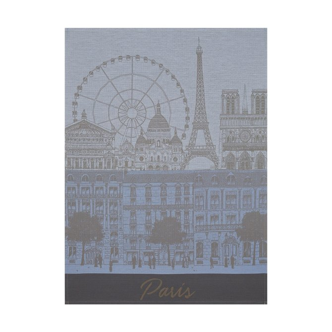 LJF Paris Panorama Ciel Azure Tea Towel