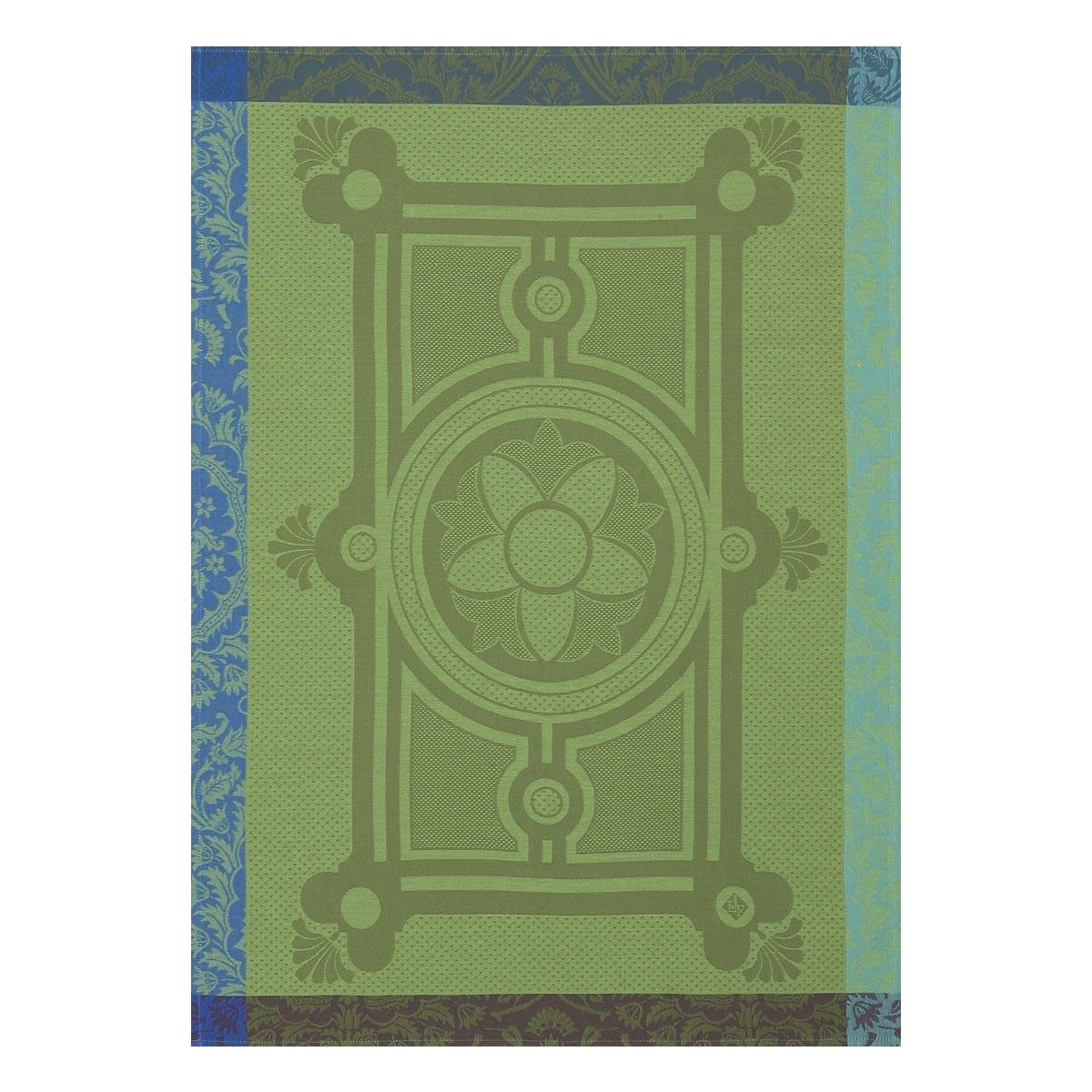 LJF Jardin Francais Gazon Green Tea Towel
