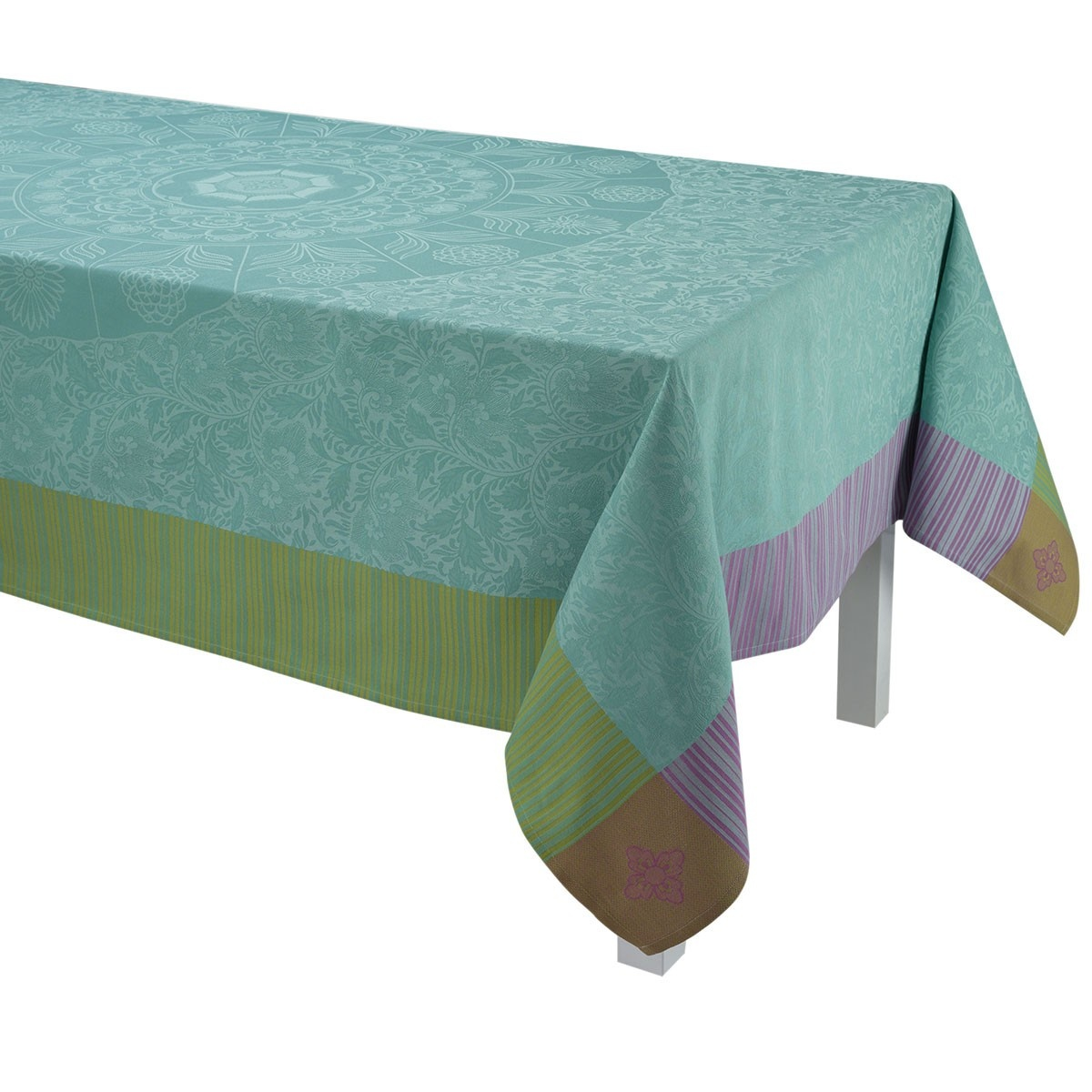 """LJF Tablecloth Ming Design Jade 69""""x98"""""""