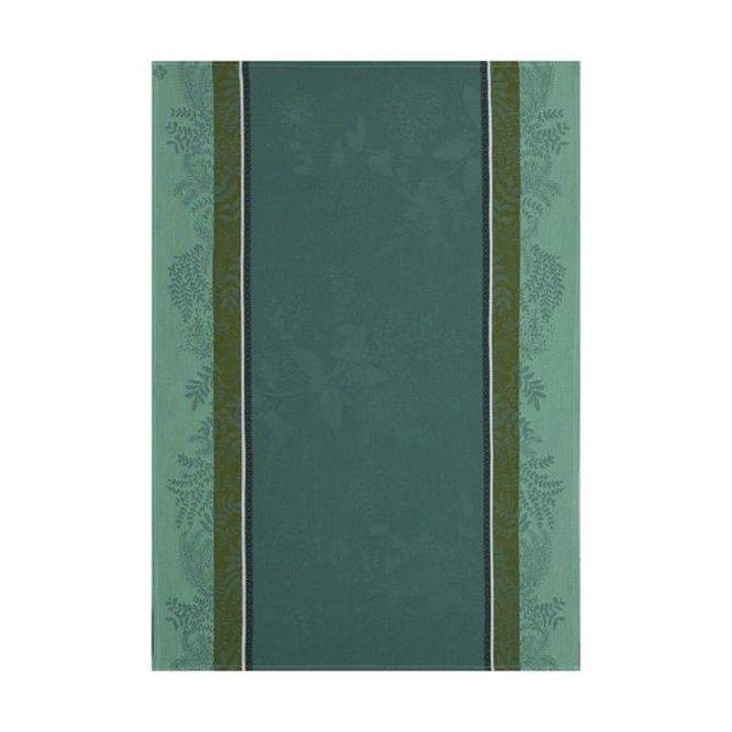 LJF Tea Towel Bouquet Enchante Green 24x31