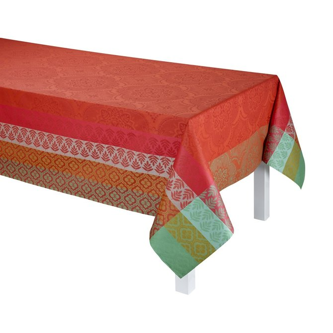 LJF Bastide Red Pepper Tablecloth 69x126