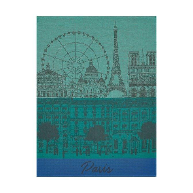 LJF Tea Towel Paris Panorama Garden