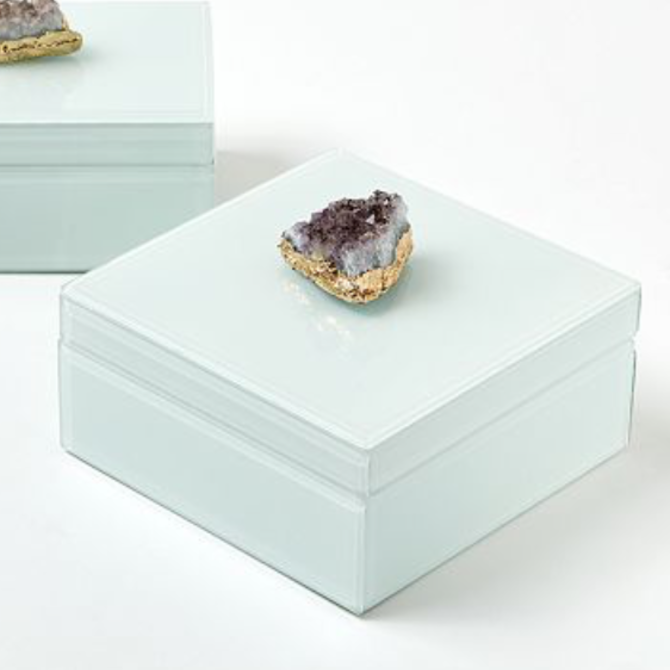 Two's Company Amethyst Box Large
