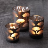Two's Company Gingko Glass Votive Large