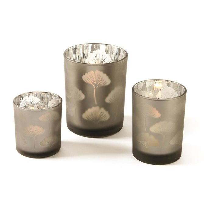 Two's Company Gingko Glass Votive Medium