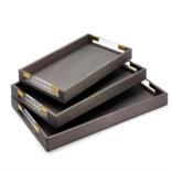 Two's Company Grey Stingray Small Tray