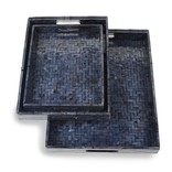 Two's Company Midnight Blue Tray large