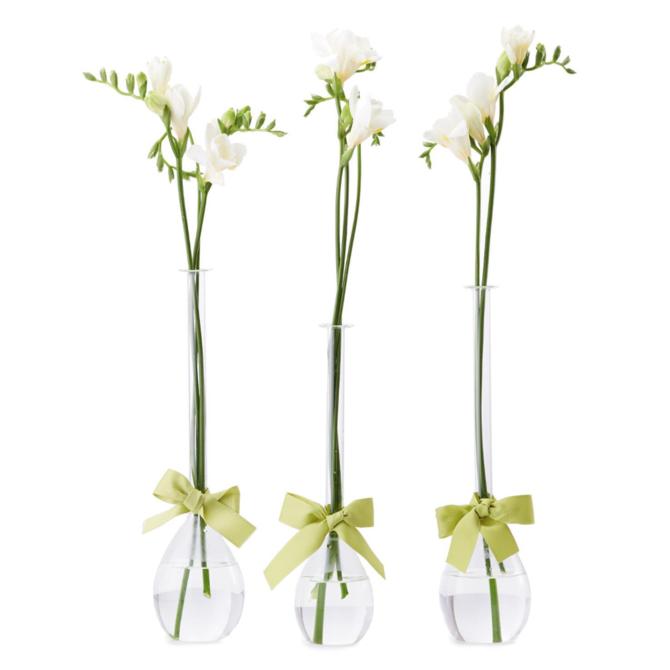 Two's Company Sleek & Chic S/3 Tear Drop Vase Medium