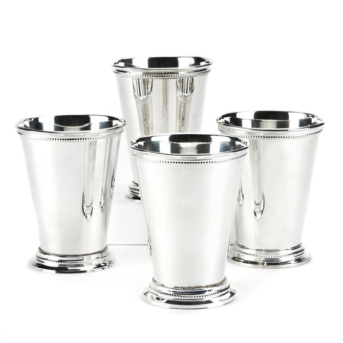 Two's Company Set/ 4 Mint Julep Cups in Gift Box