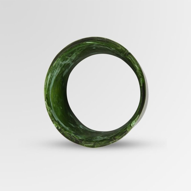 Dinosaur Designs Malachite Bangle MT Extra Long