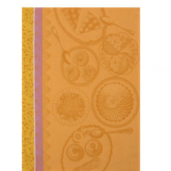 LJF Delices Gourmands Apricot Tea Towel