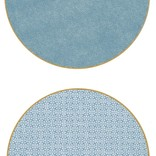 Holly Stuart Home Round Double Sided Placemat Turquoise (XRP-SA-SE/DF-SE)