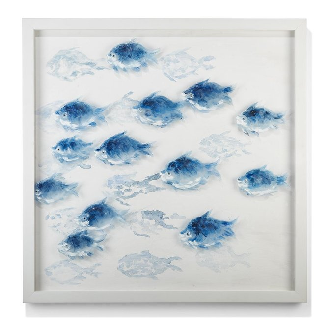 Two's Company School of Fish Wall Art
