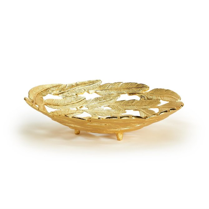 Two's Company Gold Leaf Decorative Bowl Small