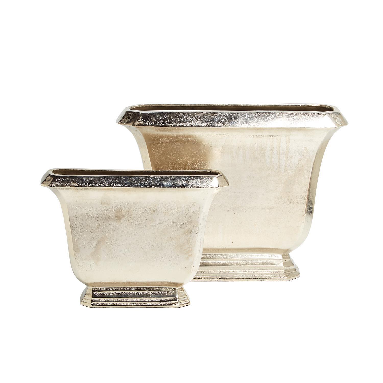Two's Company Regency Vases Aluminum Large