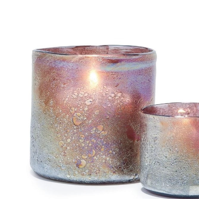 Two's Company Violet Candleholders/Vases Small