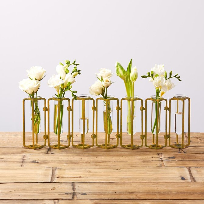 Two's Company Hinged Flower Vases - small - MIN102-G