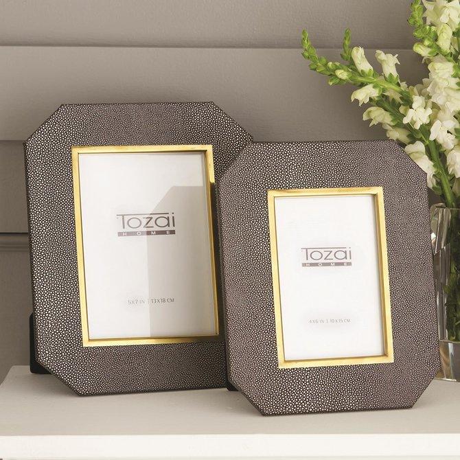 Two's Company Grey Stingray Small Photo Frame