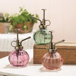 Two's Company Plant Mister Asst 3 Colors: Pink,Gren, Purple- Glass
