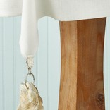 Two's Company S/4 Oyster Shell Tablecloth Weights in Storage Pouch