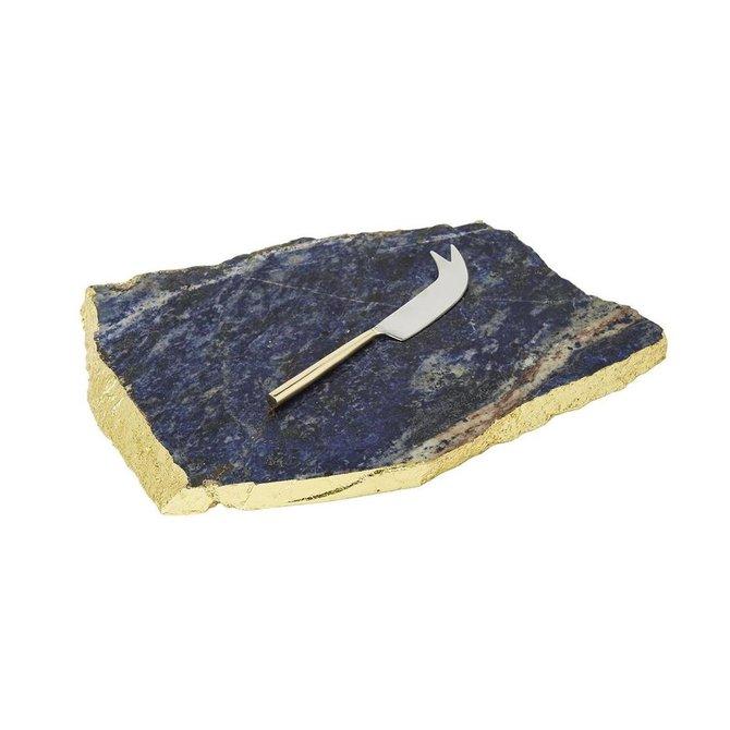 Two's Company Royal Blue Sodalite Tray w/ Knife