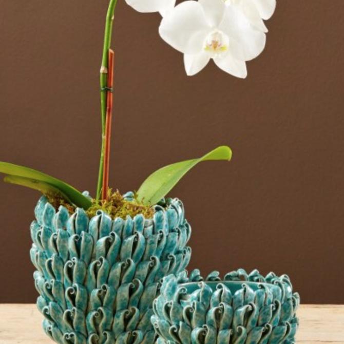 Two's Company Turquoise Decorative Vase (L) - CYC013-TUS2