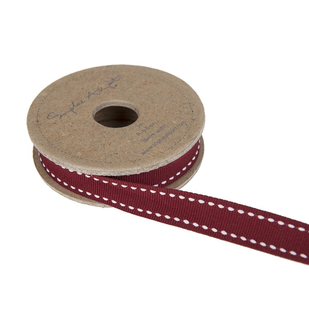Sophie Allport Ribbon on Spool Red w/ White Stitch